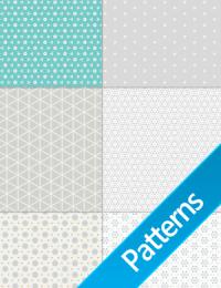 +10 Pacote de Patterns Abstratos, Flores, Metal e Bolhas